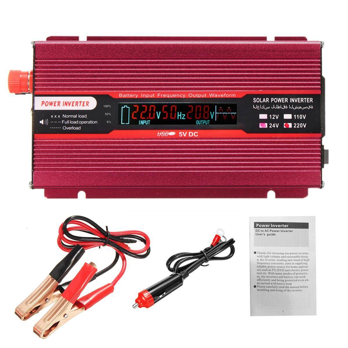 THB 1.092. 4000W Car Power Inverter 24V To AC 220V USB Modified Sine ...