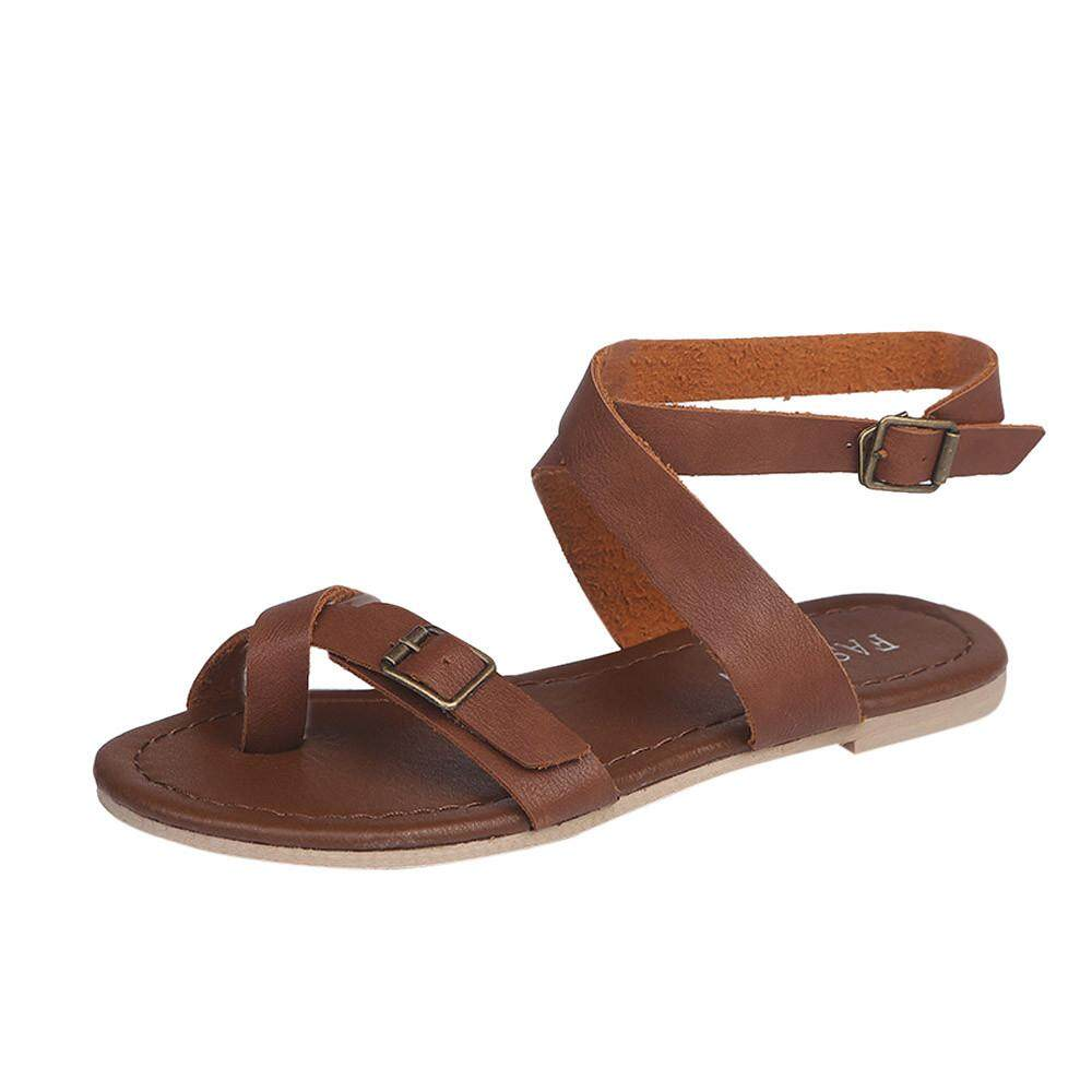 Womens Ladies Flat Wedge Espadrille Rome Tie up Sandals Platform Summer Shoes - intl