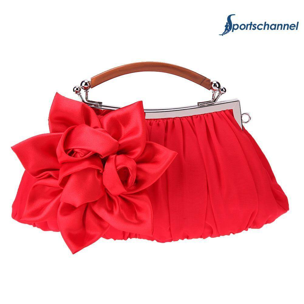Fitur Tas Slempang Clutch Kulit Retro Shoulder Chain Mango Selempang Wanita Manggo Bags Women Satin Wristlet Handbag Wedding Flower Hobo Clip Bag