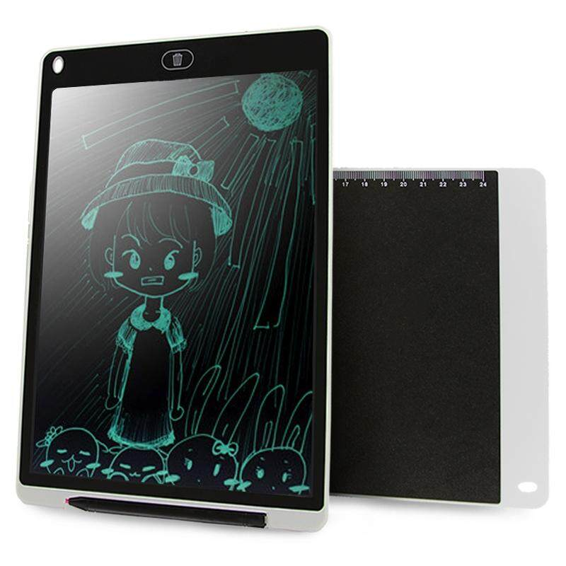 CHUYI Portable 12 inch LCD Writing Tablet Drawing Graffiti Electronic Handwriting Pad Message Graphics Board Draft Paper with Writing Pen, CE / FCC / RoHS Certificated(White) - intl