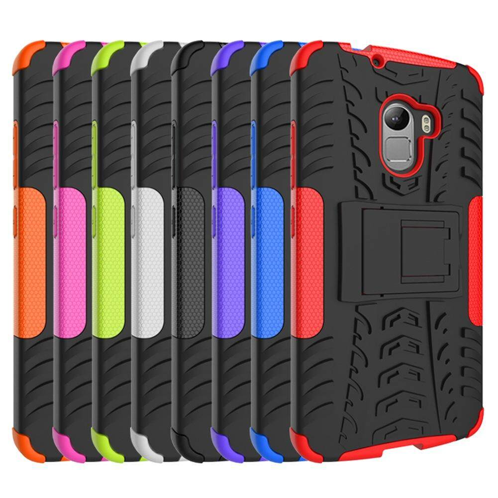 Detail Gambar UPaitou Armor Case for Lenovo Vibe X3 Lite / K4 Note / A7010 Tough Rugged TPU + PC Dual Layer Protective Case with Kickstand Back Cover for ...