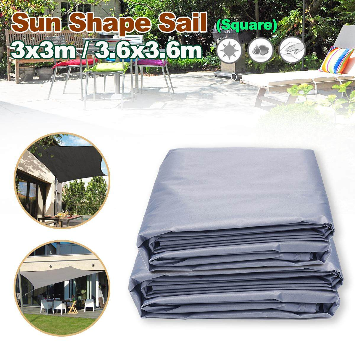 3x3m/3.6x3.6m Waterproof Dust Cover Cap Square Furniture Table Chair Outdoor - intl