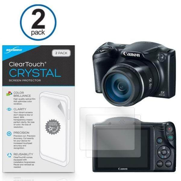 Canon Powershot SX400IS Screen Protector, BoxWave [ClearTouch Crystal (2-Pack)] HD Film Skin - Shields From Scratches for Canon Powershot SX400IS