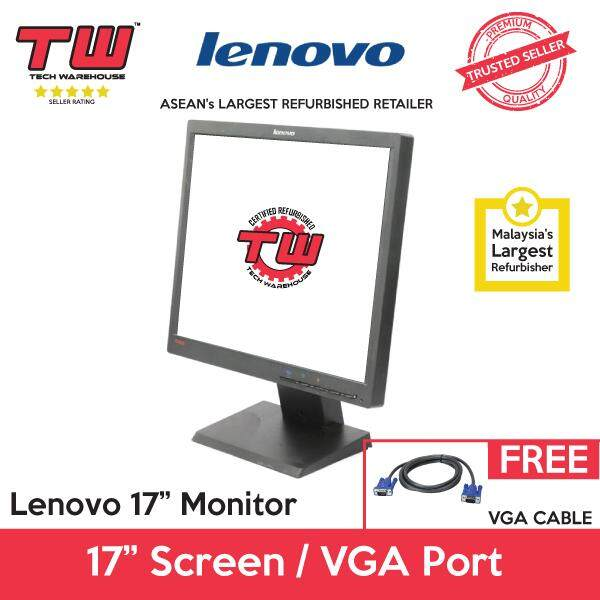 Lenovo 17  LCD Monitor (Factory Refurbished) (3 Months Warranty) Malaysia
