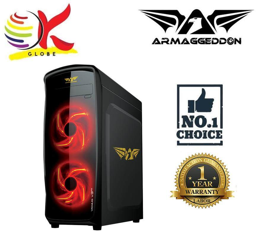 ARMAGGEDDON VENUS V3FX GAMING TOWER DESIGN SEE THRU TRANSPARENT SIDE PANEL WITH FULLY BLACK COATED CHASSIS WITHOUT PSU Malaysia