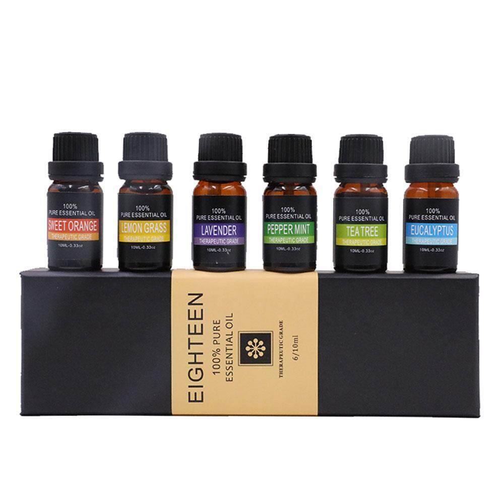 leegoal Essential Oils Gift Set,Top 6 Aromatherapy Oils Orange Lavender Tea Tree Peppermint Eucalyptus Lemongrass ,10ml