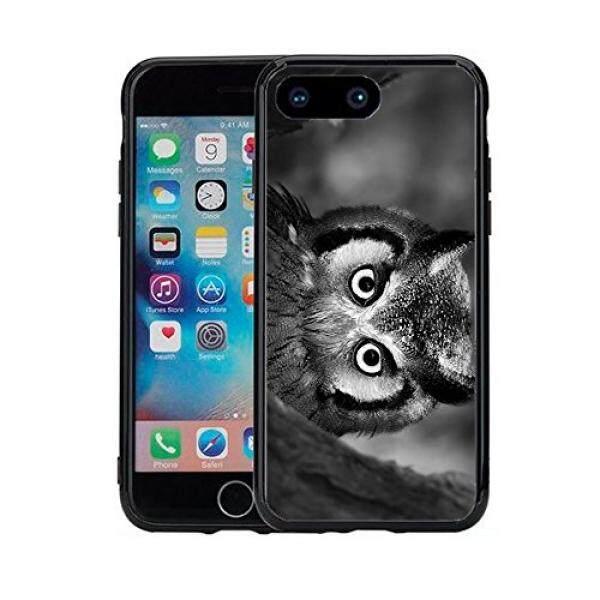 Smartphone Case S Hitam dan Putih Burung Hantu UpClose untuk iPhone 7 Plus (2016) dan iPhone 8 Plus (2017) (5.5) Case Cover Atom Pasar-Intl