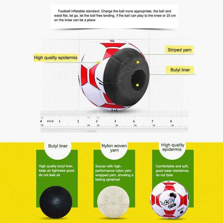 Detail Gambar Elec Ukuran 2 Standar PU Bola Sepak Kulit Pelatihan Sepak Bola  dengan Bersih Jarum e5c52e95a8