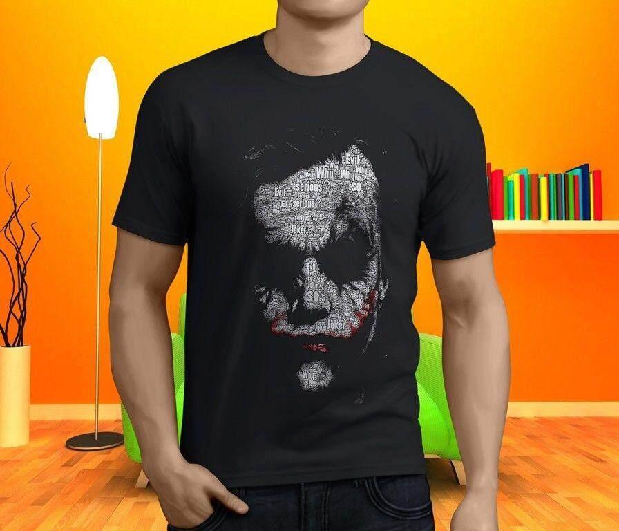 Heath Ledger Joker Why So Serious Suicide Squad Men s T-shirt Black b1097ac505e9