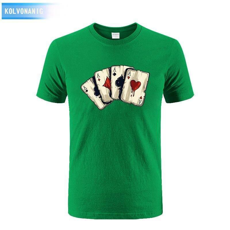 69b24b78bd6d Fashion diy Dress Men T Shirt Poker Playing Cards Four A Anime 3D Printed T-