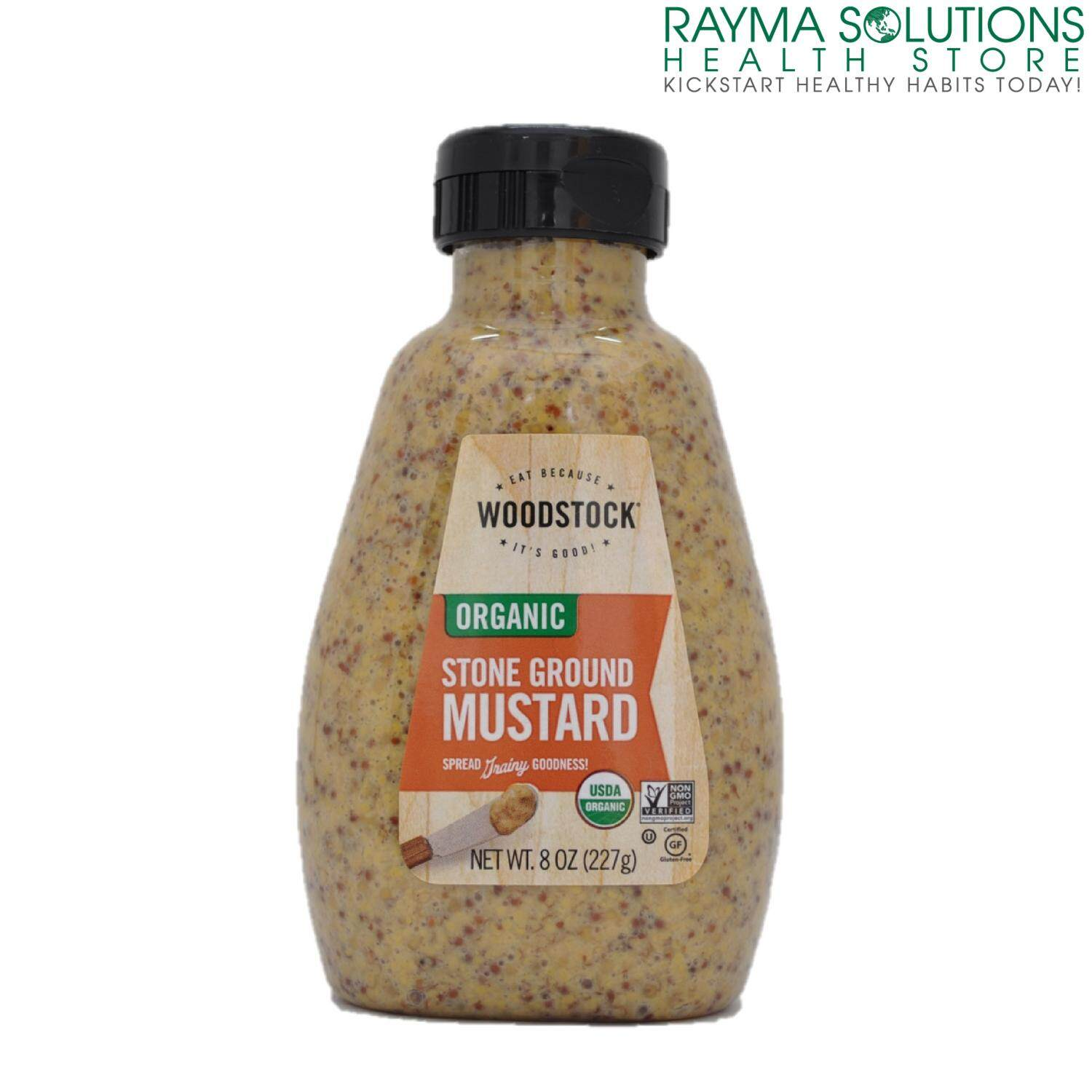 WOODSTOCK Organic Stone Ground Mustard 227g