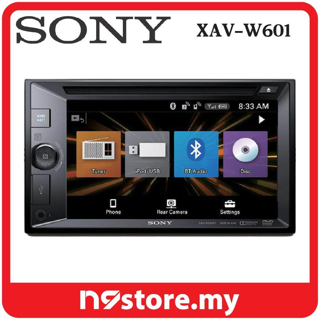 "Sony XAV-W601 6.2"" Double DIN DVD USB Aux Car Stereo Receiver"
