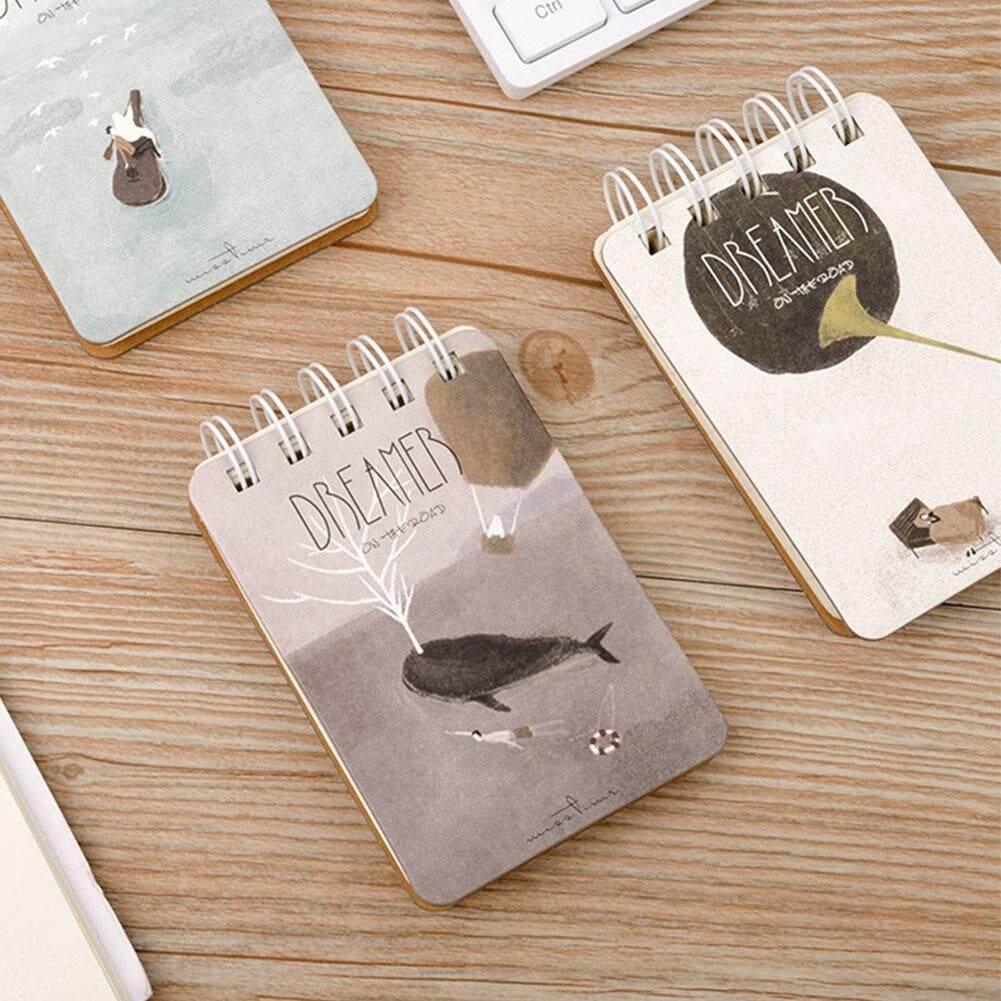 1pcs A7 Top Spiral Pocket Mini Notebook Cute Hard Cover Notepad (Random Style) - intl