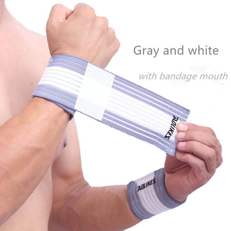 2 Pcs/1 Pair Kebugaran Perban Elastis Tangan Strap Pergelangan Tangan Wrap Gelang Olahraga Dukungan