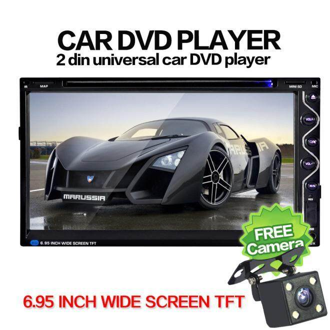 Malloryshop 7 Double 2DIN Touch Car Stereo CD DVD Player Bluetooth USB SD FM TV Radio