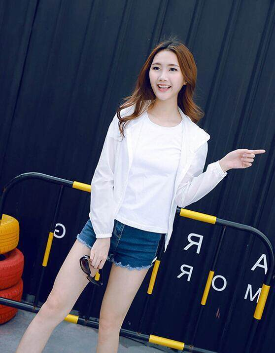 New Long-sleeved Sun Protection Clothing Summer Coat Color Female Models Fashion Korean Version of The Wild Hooded Dress LA01AWYL088 - intl