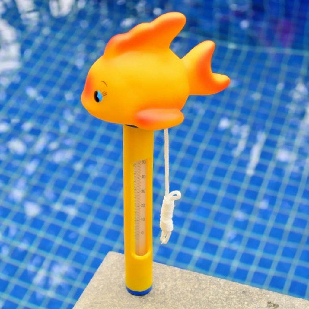 MagiDeal Yellow Pool & Spas Thermometer Floating Water Temperature with Rope Goldfish