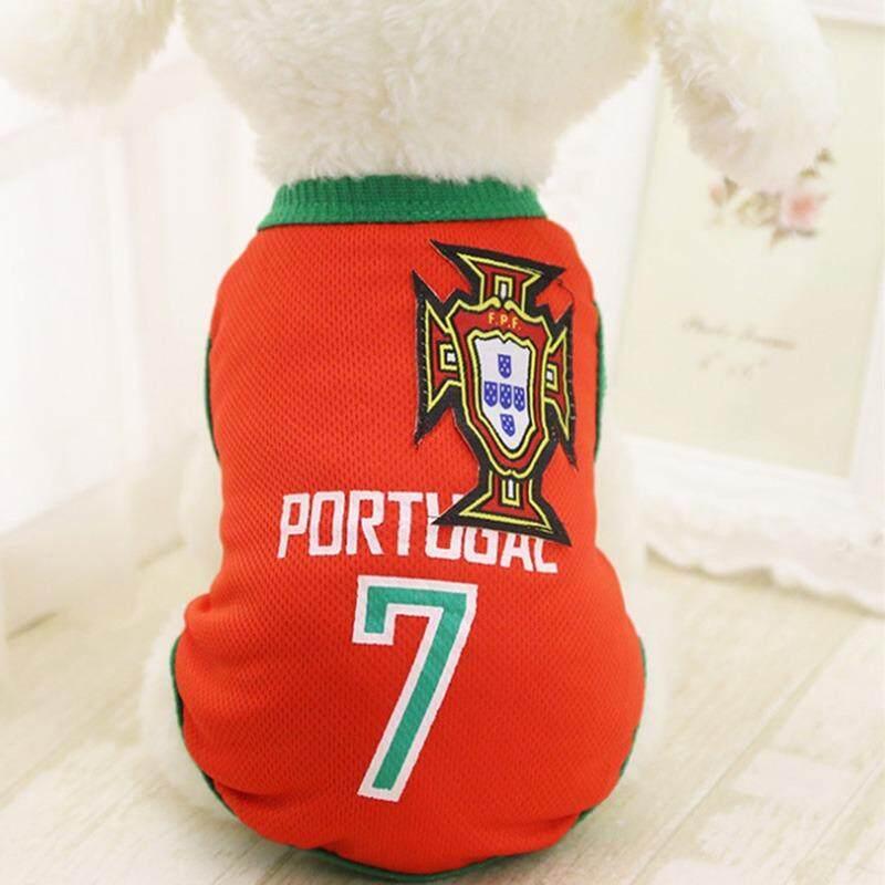 Ljan Hewan Peliharaan Baru Piala Dunia Sepak Bola Jersey Anjing Kucing Rompi Jaring T-shirt