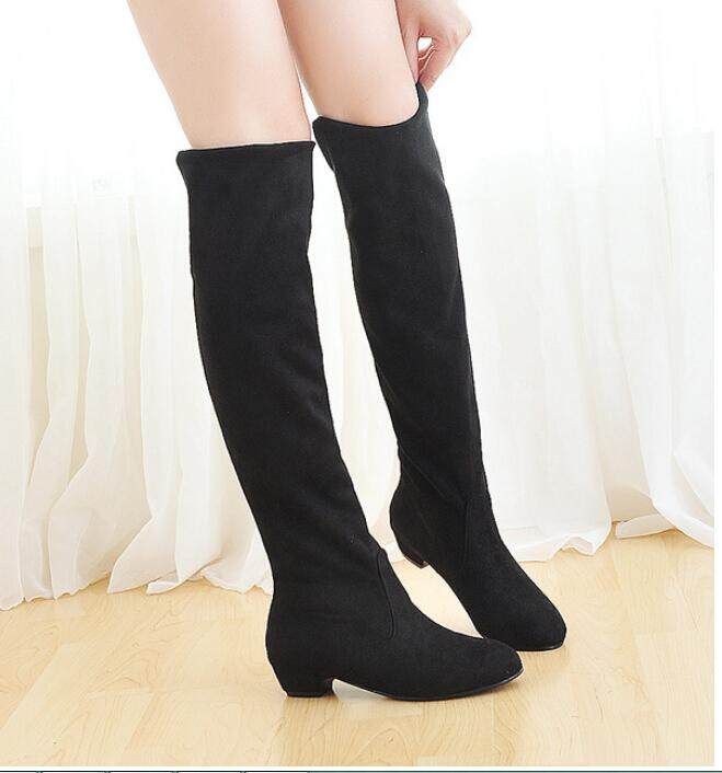 33b85d159d3 Fashion Sexy Women Boots Autumn Winter Ladies Fashion Flat Over Knee Long Boots  Shoes