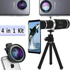 Samsung Lensa Telefoto, LINGWEI Lensa Kamera Teleskop Kit dengan 18X Lensa Telefoto/Wide Angle