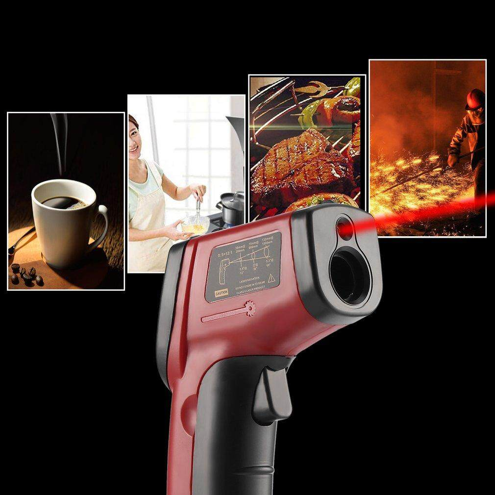 Allwin Non-Contact LCD IR Laser Digital Temperature Meter Sensor Infrared Thermometer Red