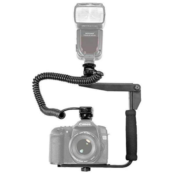 Neewer® Quick Flip Rotating Flash Bracket and 9.8 feet/3 m E-TTL E-TTL II Off Camera Flash Speedlite Cord for Canon EOS 5D Mark III , 5D Mark II, 1Ds Mark 6D, 5D, 7D, 60D, 50D, 40D, 30D, 300D, 100D, 350D, 400D, 450D, 500D, 550D, 600D, 650D, 700D, 100