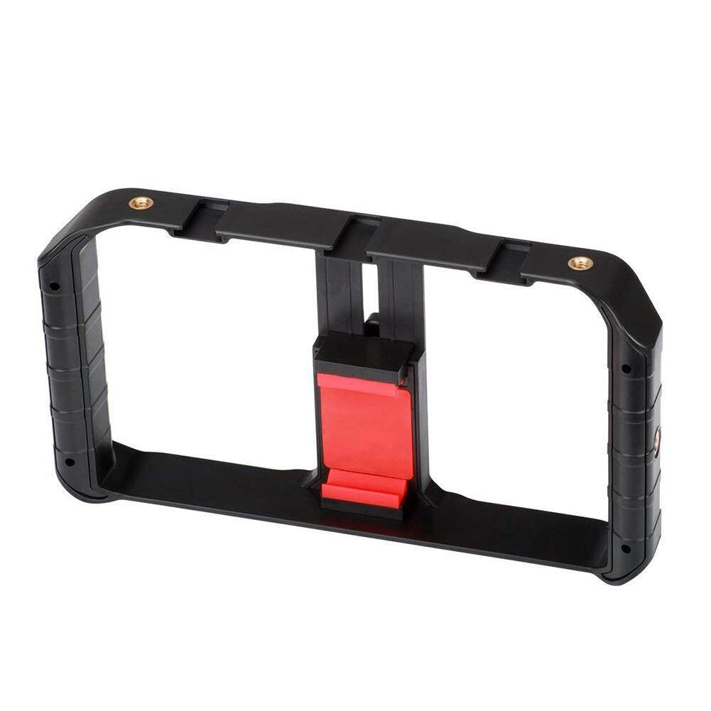 Dlong Ulanzi U-RIG Pro Smartphone Video Rig Ponsel Stabilisator Video Pegangan Dudukan Tripod untuk Videomaker Pembuat Film Pembuatan Film Kasus untuk iPhone X 8 PLUS Samsung