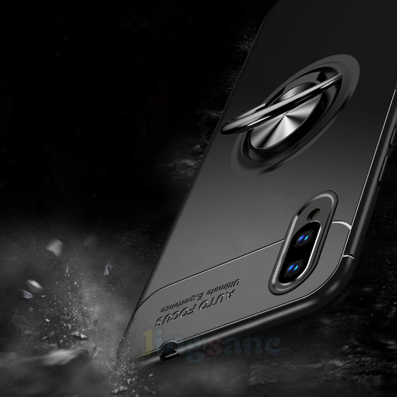 Untuk VIVO V11 Pro Case Telepon Lembut TPU Casing Silikon Casing Magnetik Braket Cincin Penutup Belakang dengan 360 Derajat Stand Penyangga Di Mobil - 3