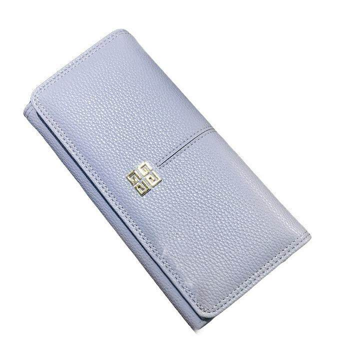 WLT-034 Norway Hubert 110 Woman Big Space Coin Card Wallet Purse [BLUE]