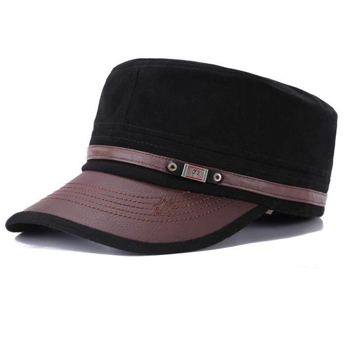 Topi Tentara Wanita Pria Topi Pemuda Inggris (Benn Kulit Mati-Putih) 8f5b63a11b