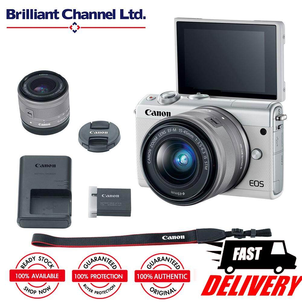 Features Canon Kiss M Eos M50 White With 15 45mm Lens 8gb Bag Dan M100 Kit 22mm Kamera Mirrorless Digital Camera