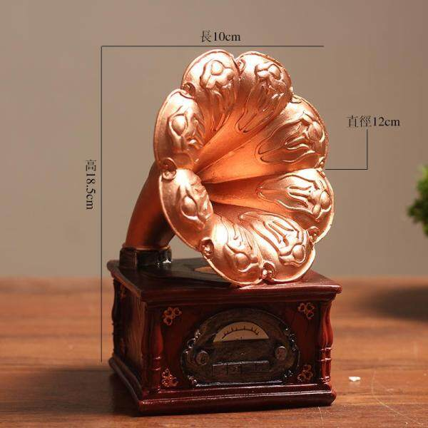 European Style Retro Decoration Disk Reproducer Creative 58 Living Room Office Small Ornament Northern Europe Bookcase Wine Cabinet Decorations