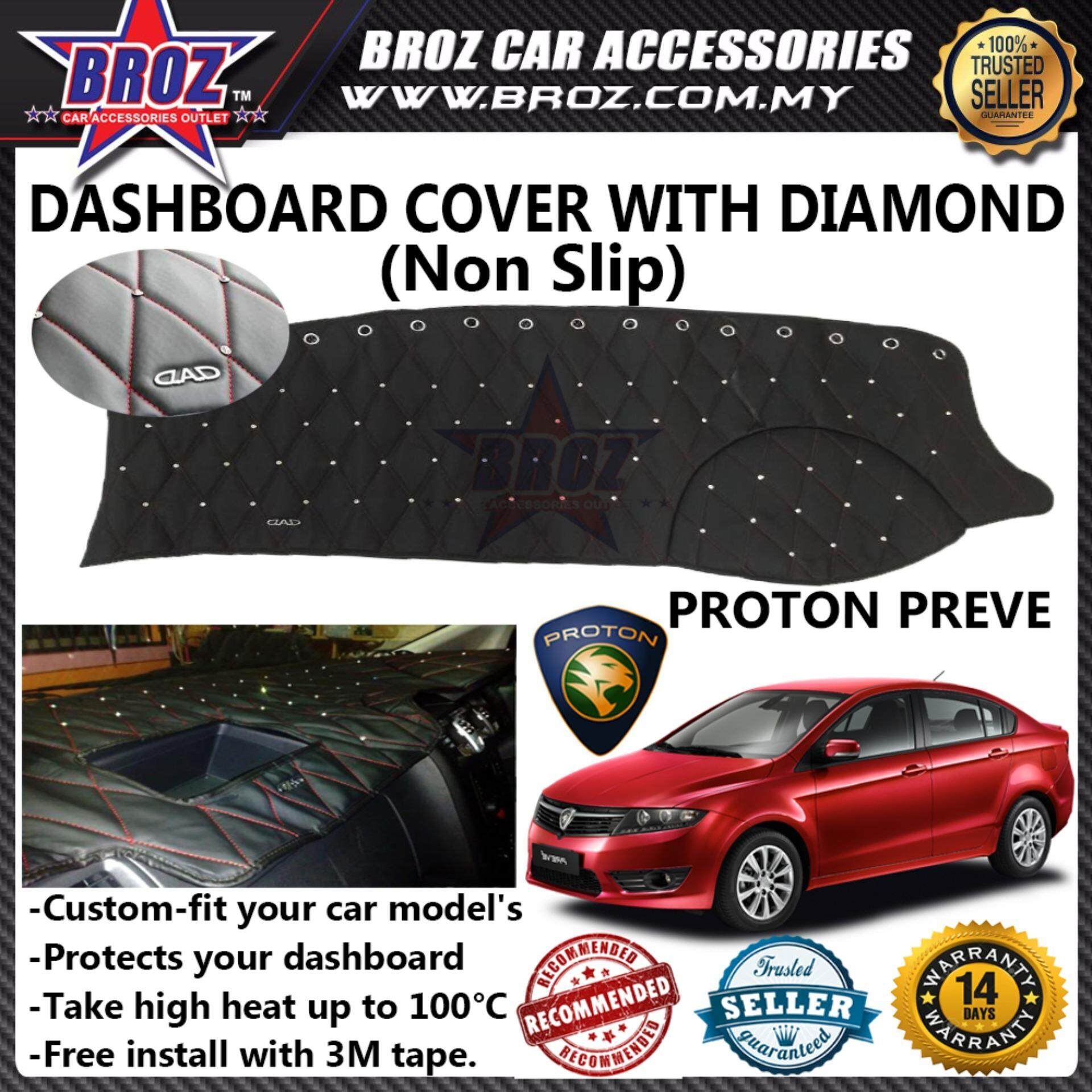 Non Slip Dashboard Cover with diamond for Proton Preve