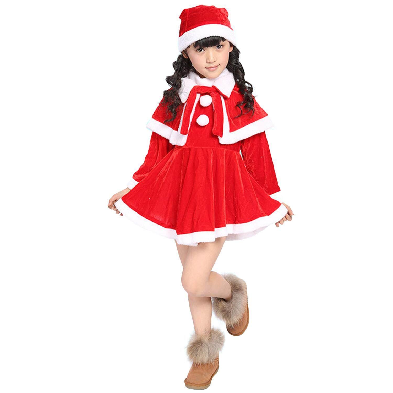 Dễ thương Giáng Sinh Ông Già Noel Trang Phục Bộ Quần Áo cho Trẻ em Bé Gái Dự Tiệc Hóa Trang Chụp Ảnh Chống Đỡ Hiệu Suất