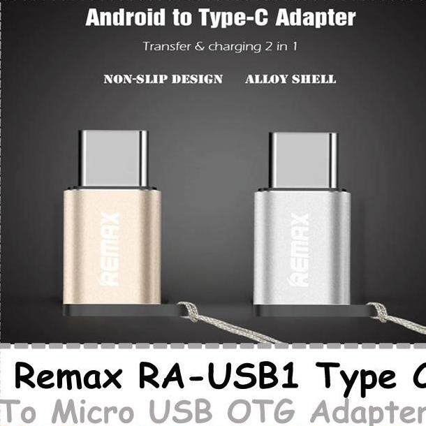 REMAX RA-USB1 Type C To Micro USB OTG Adapter Convertor