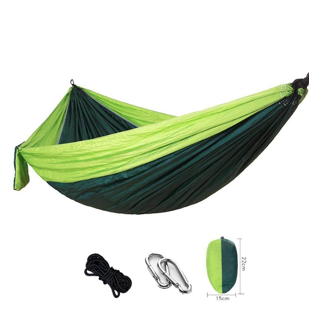 Niceeshop Double Camping Hammock - Lightweight Nylon Portable Hammock, Outdoor Hanging Bed ,parachute Double Hammock ,260*140cm - Intl By Nicee Shop.