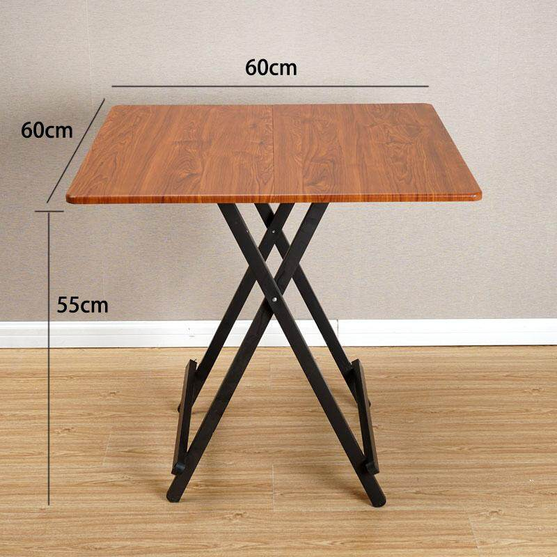 RuYiYu - 60x60x55CM/L W H, Special Simple Foldable Square Dining Table, Snack Table Set,Drop-leaf Table, Folding Table, Drop-leaf Table