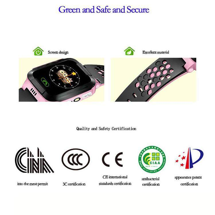 pantalla táctil Bakeey Y21 niños Kid LBS SOS Llamar Ubicación rastreador de Smart Watch