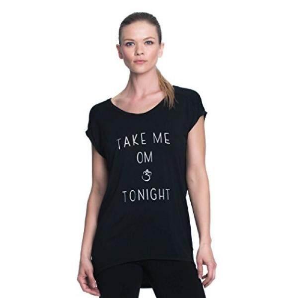 958db0284f Gaiam Womens Dani Yoga Short Sleeve T-Shirt - Workout Top for Women - Black