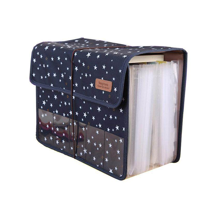 Cute Portable Expandable Accordion 12 Pockets A4 File Folder Oxford  Expanding Document Briefcase 48050acb7c777
