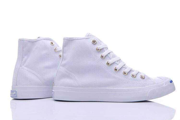 Discount! Hot Sale 2018 Unisex Convers Jack Purcell High Top Women's and Men's Sneakers Canvas Casual Shoes Color: White - intl