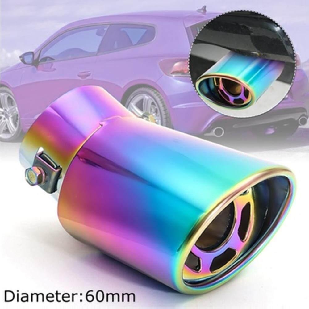 AUkEy Toko Ekor Muffler Ekor Tenggorokan Universal 60 Mm Anti Karat Peredam Mobil-Internasional