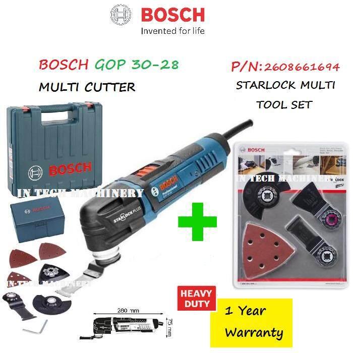 BOSCH GOP30-28 MULTI CUTTER+STARLOCK MULTI TOOL SET, PN 2608661694
