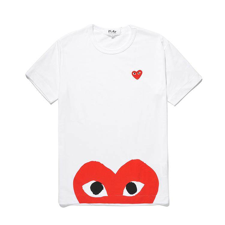 c9e6fa58bad COMME des Garcons CDG Play Short Sleeve Women T-Shirt Sport Leisure Style  Cute Couple