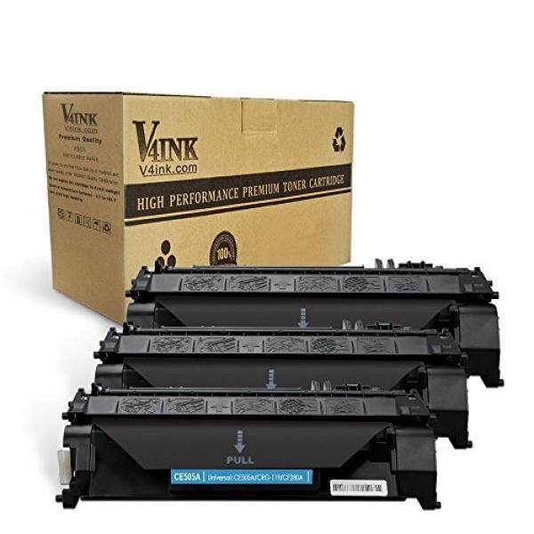 V4INK 3 Pack Compatible Replacement for HP 05A CE505A Toner Cartridge - Black for use in HP LaserJet P2035, P2035n, P2055dn series printers - intl