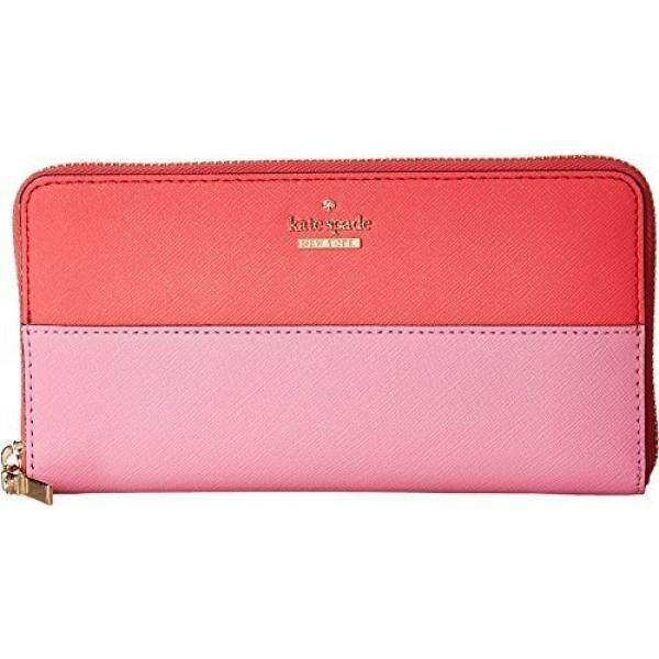 Kate Spade New York Womens Cameron Street Lacey Wallet Bright Flamingo Multi One Size