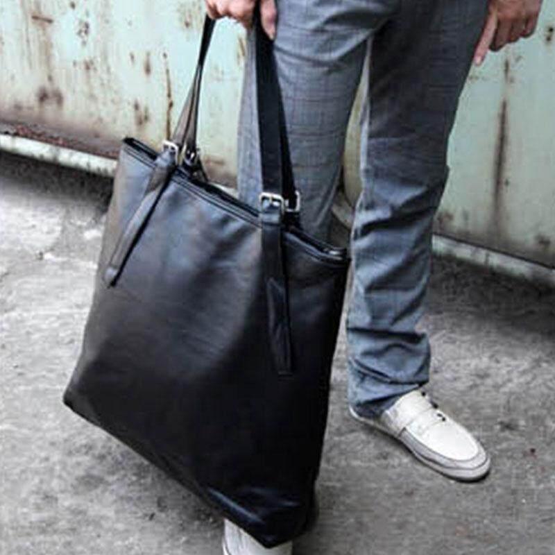 4340257ea19e KX Korean version of the simple PU leather shoulder bag men s portable  leisure bag large capacity