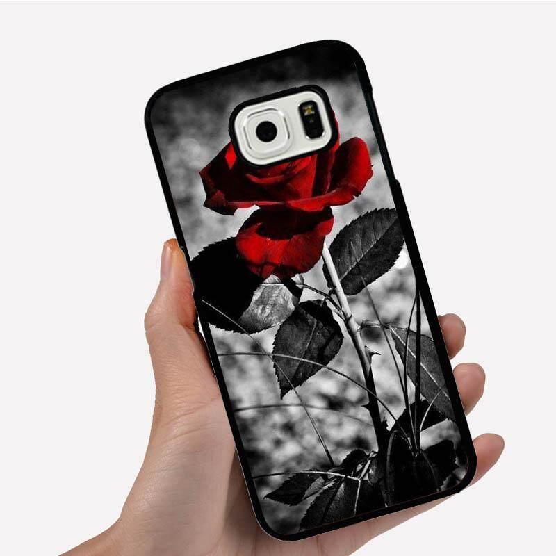 Casing Ponsel untuk Xiaomi Redmi Note 4 dengan Satu Bunga Merah Abu-abu Cabang Gambar Kartun Pola Plastik Anti-Knock telepon Case Cover