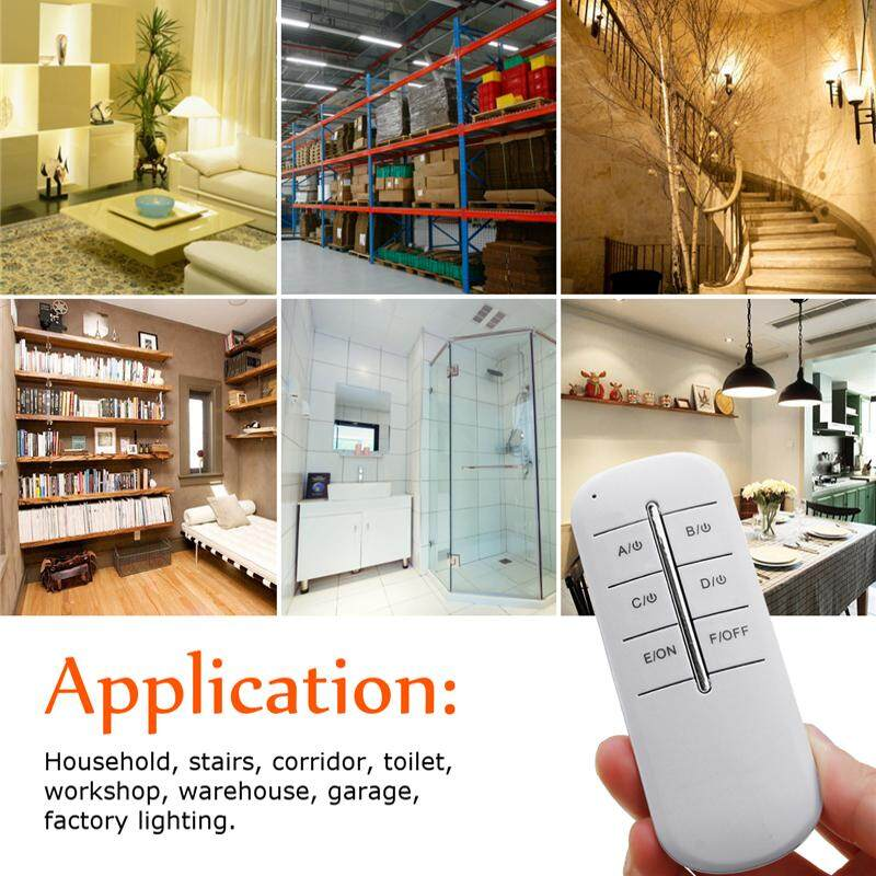 4 Channel Remote Wireless Receiver Lamp Light ON/OFF 220V RF Control Switch 2A1000w -