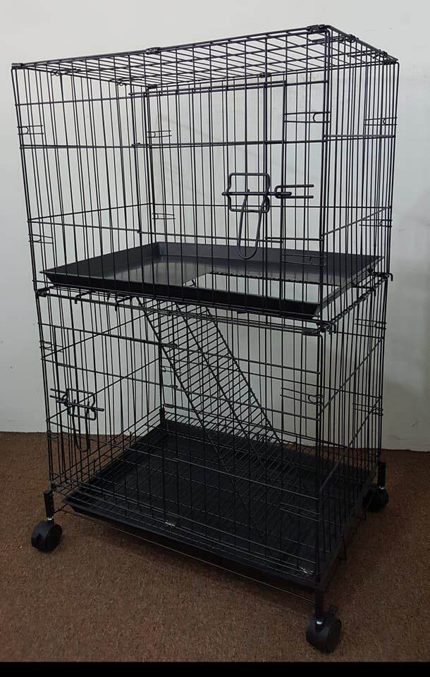 Cat Cage 2 Level By Sangkar Kucing Murah Delivery.